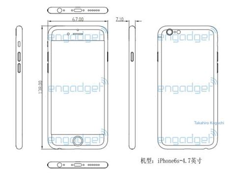 iphone  dimensions tipped  leaked schematic