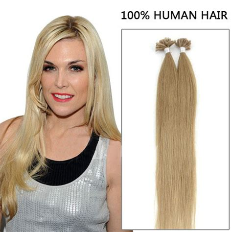 16 inch 100s first rate straight nail u tip human hair