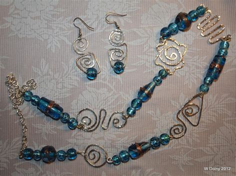 glass bead jewelry ideas you to see silver and glass bead necklace set on craftsy