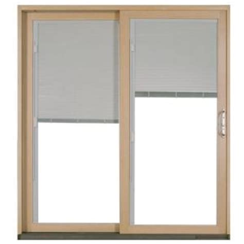 Sliding Door Blinds Home Depot by Jeld Wen 72 In X 80 In W 2500 White Left Aluminum