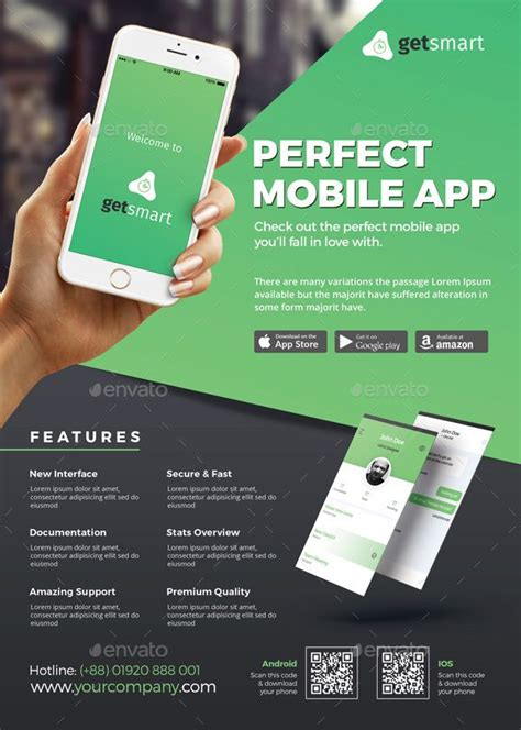 flyer templates for android mobile app flyer ios app facebook and promotion