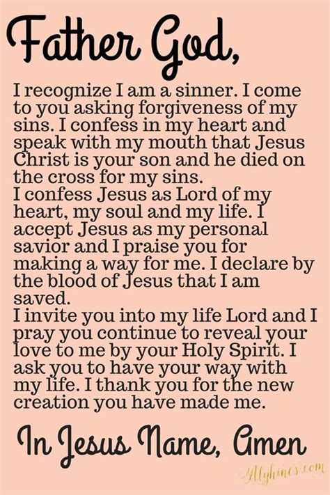 The Sins Of Scripture sinners prayer prayer to accept jesus as lord favorite