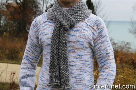 mens knit scarf pattern unique and stylish s scarf knitting patterns