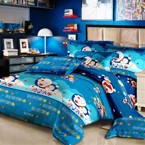Sprei 120 X 200 Monalisa Bed Cover Set Sprei Motif Doraemon Uk 120 X 200