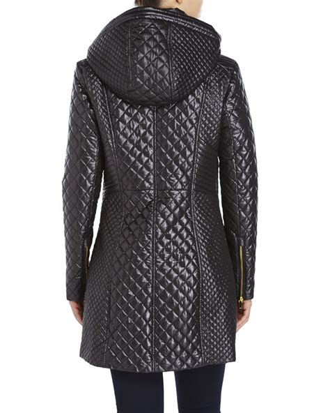 Via Spiga Jacket For by Via Spiga Quilted Zip Front Jacket In Black Lyst