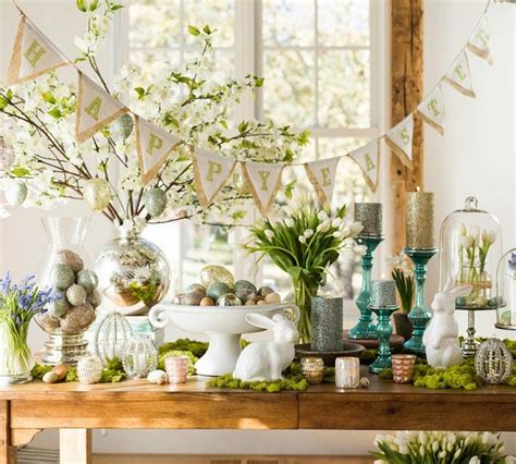 easter decorating for your living room