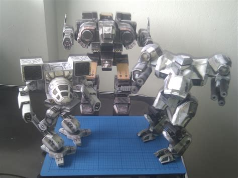 Papercraft Mech - mechwarrior papercraft d b r c racing