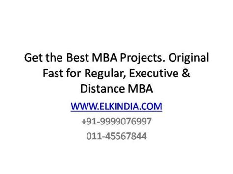 Smu Mba Project Ppt Sle by Mba Project Authorstream