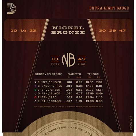 D Addario Nickel Bronze Acoustic Guitar Strings Custom Ex Light Guitar Strings