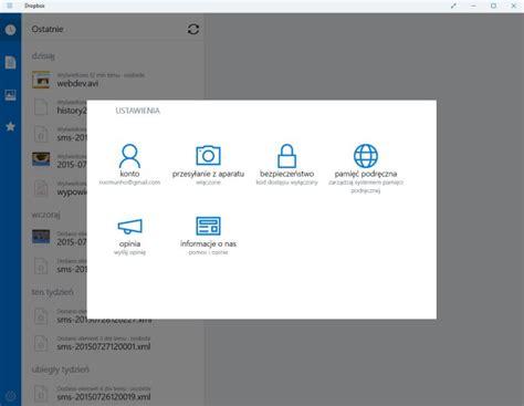 dropbox windows 10 aplikacja dropbox dla windows 10 softonet pl