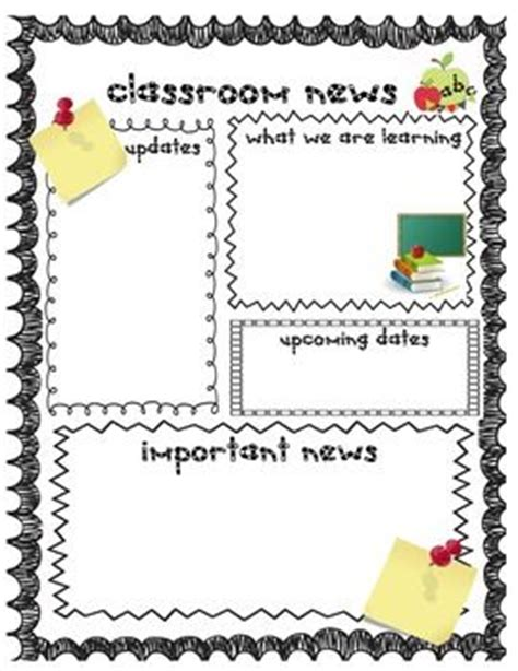 Back To School Weekly Newsletter And Homework Templates For Teachers Teaching Homework And Classroom Letter Template