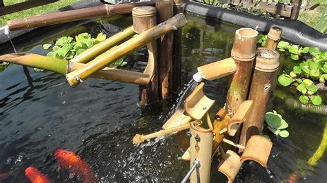 Backyard Bird Count Bird Scarer Shishi Odoshi Fountain Made Of Bamboo Using My