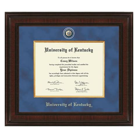of kentucky desk accessories of kentucky diploma frame excelsior