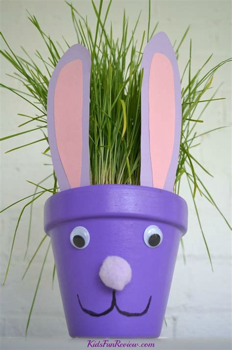 flower pot craft for bunny flower pot family crafts