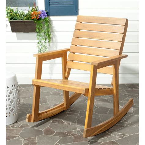patio rocking chairs wood bradley white slat patio rocking chair 200sw rta the