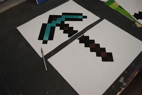 Minecraft Papercraft Pickaxe - minecraft pickaxe 5 and 45 minutes