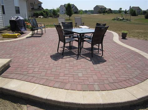 Brick Pavers Canton Plymouth Northville Ann Arbor Patio Raised Patio Pavers
