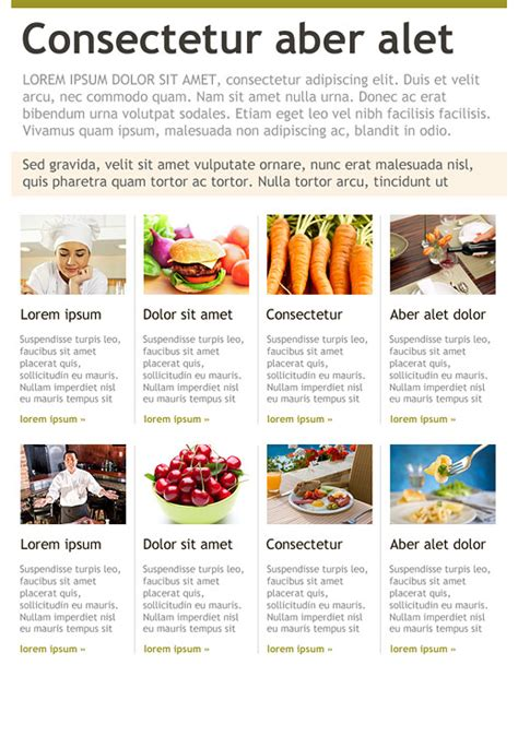 restaurant newsletter template food and restaurants newsletter templates email