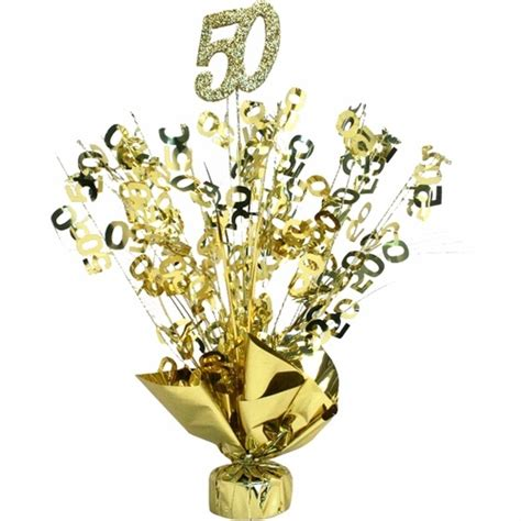 Gold 50th Anniversary Table Centerpiece 50th Anniversary Centerpieces