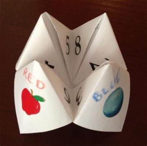 How Do You Make A Paper Chatterbox - create an origami fortune teller everywhere