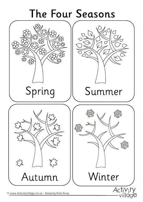 seasons coloring pages preschool 25 best ideas about seasons activities on pinterest the