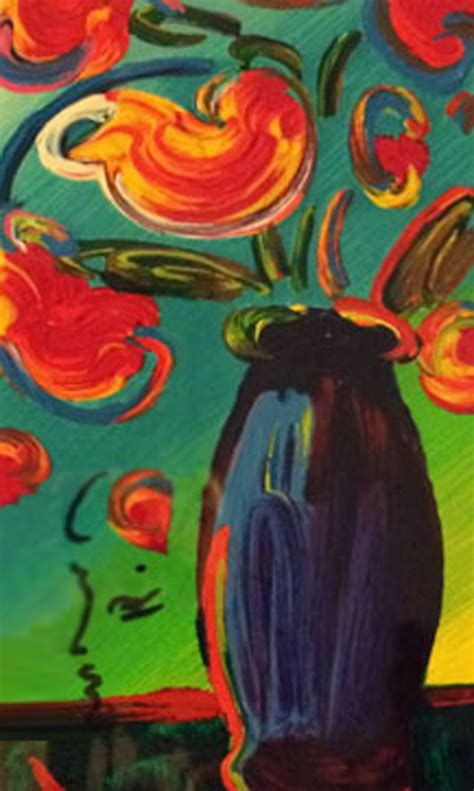 Max Vase Of Flowers by Max For Sale
