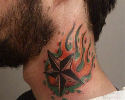 star tattoo neck designs 49 neck tattoos