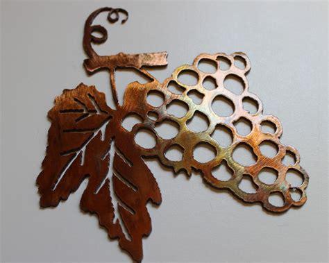 small metal wall decor metal wall decor small grape bushel wine sign