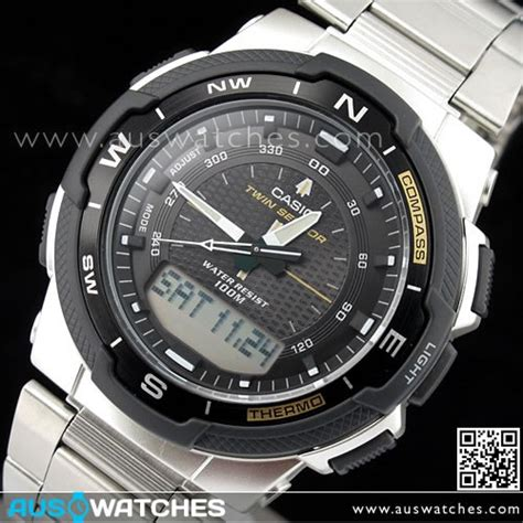 Jam Tangan Casio Original V001l 1b buy casio sensor compass thermometer moon data