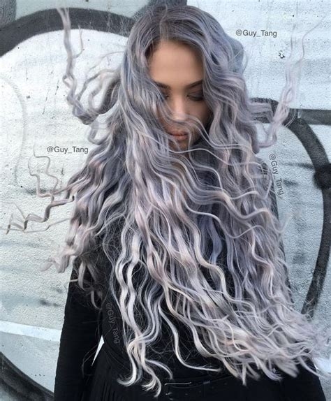 silver blue long hair pictures photos and images for facebook most subtle cool hair color smoky lilac hair color