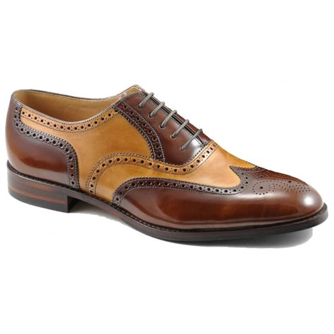 shoes uk loake lowick two tone brogue shoes marshall shoes