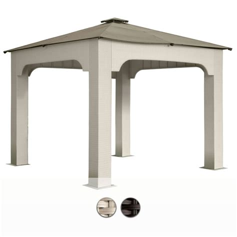 gazebo impermeabile gazebo da giardino in wicker 3x3 mt con telo impermeabile