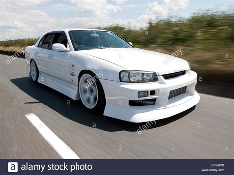 modified nissan skyline modified nissan r34 skyline performance car stock photo
