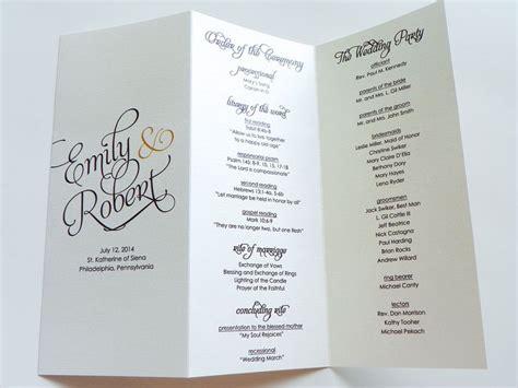 layout wedding program wedding programs bifold folded wedding programs wedding