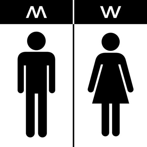 man and woman bathroom sign vector toilet sign man and woman design 03 vector logo