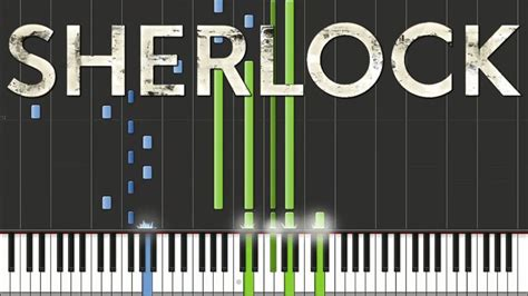 tutorial main keyboard sherlock bbc main theme piano tutorial youtube