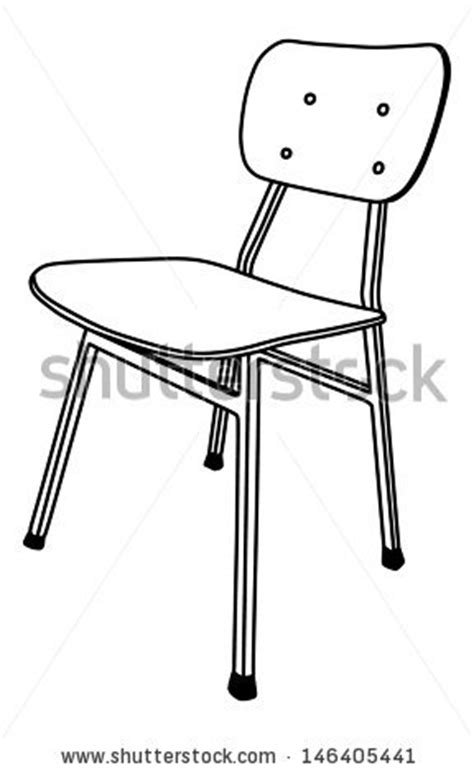 school chair coloring page hite table clipart clipground