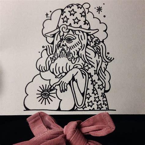tattoo flash instagram classic wizard tattoo flash drawing by gemma taylor
