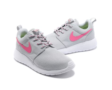 grey and pink running shoes womens nike roshe run grey pink running shoes