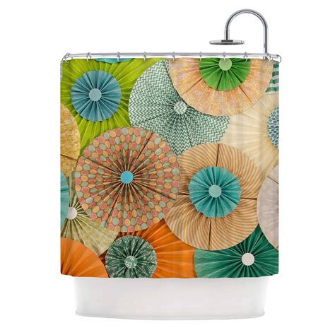 orange and teal shower curtain heidi jennings quot summer party quot teal orange from kess inhouse