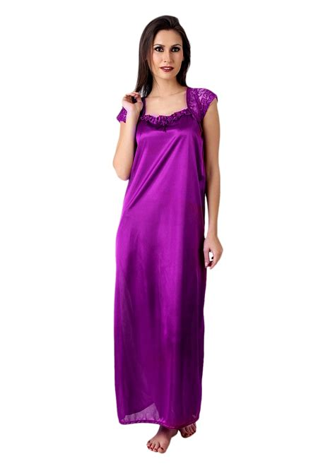 nighty dress with price online paradise satin nighty dress purple prices