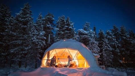 northern lights dome hotel geodesic domes offer enchanting views of northern