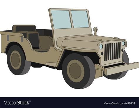 jeep vector willys jeep ww 2 royalty free vector image vectorstock