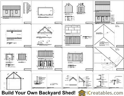 tifany free plans for 10 x 20 shed