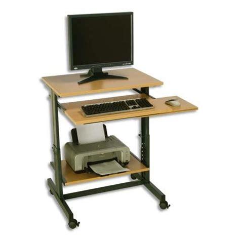 bureau informatique compact sodematub poste informatique compact r 233 glable e achat