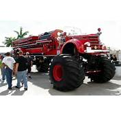 Just A Car Guy Monster Truck  Vintage Fire Engine = Rare Cool Factor