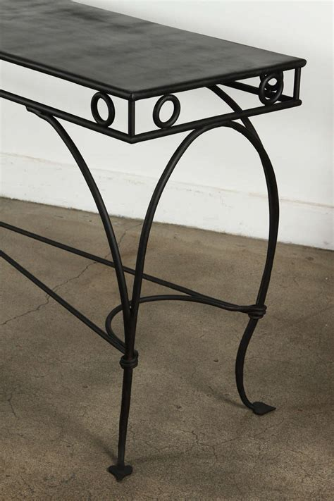 Wrought Iron Moroccan Style Console Or Sofa Table At 1stdibs Iron Sofa Table