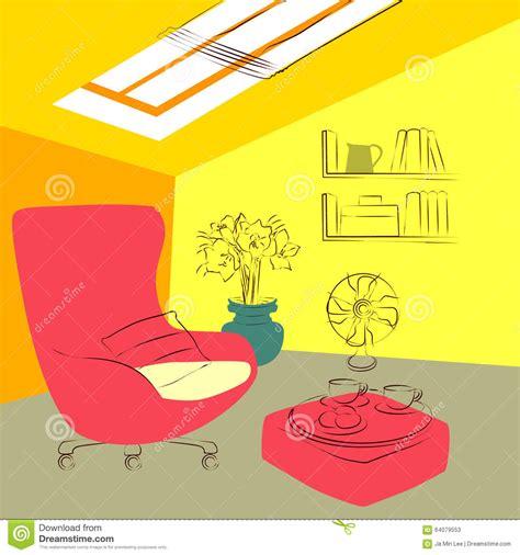 nella soffitta nella soffitta illustrazione vettoriale immagine di