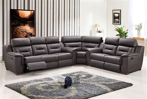recliner sofa sectional contemporary reclining sectional sofa modern grey leather