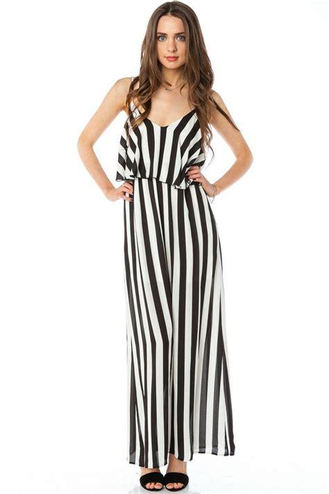 vertical design clothes vertical circuit maxi dress shopsosie black white